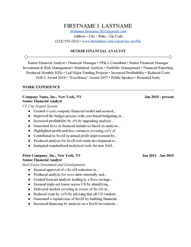 Cover Letter For Financial Analyst from www.theladders.com