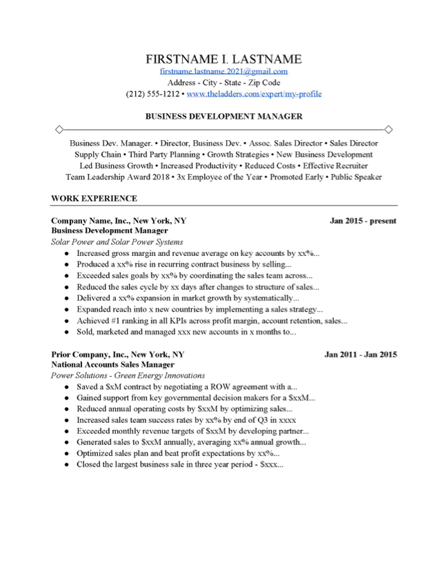 Sample Business Cover Letter from www.theladders.com