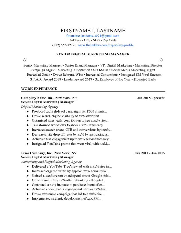 Marketing Cover Letter Examples from www.theladders.com