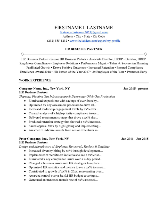 Human Resource Generalist Cover Letter from www.theladders.com