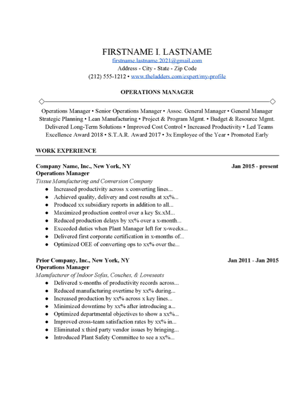 Manager Cover Letter Templates from www.theladders.com