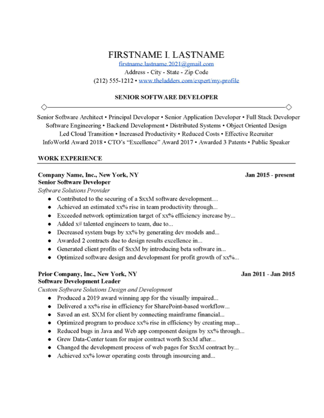 Cover Letter For Software Engineer from www.theladders.com