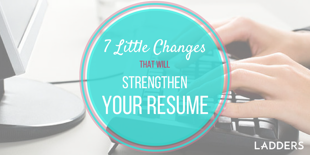 7 little changes that u0026 39 ll make a big difference with your resume