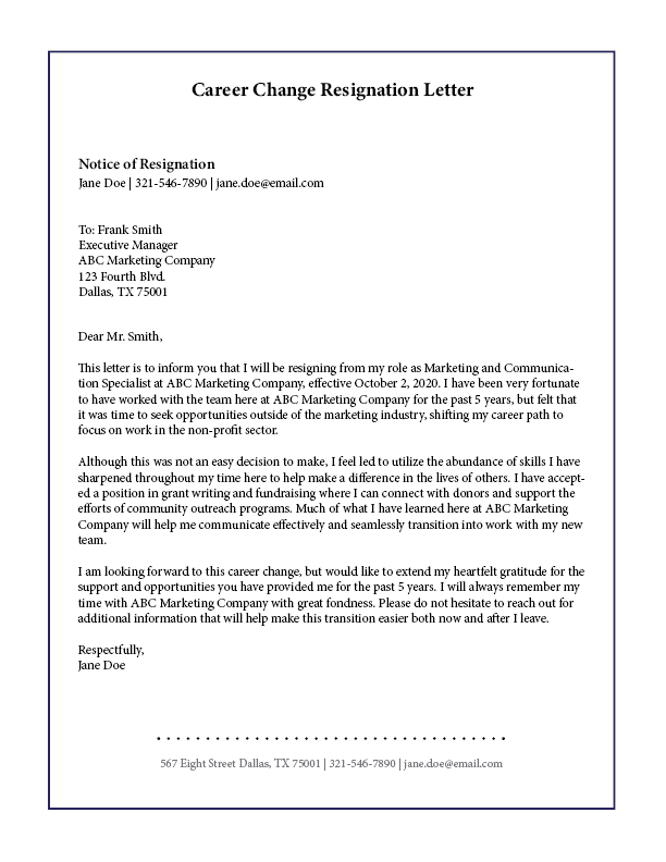 7 Letter Of Resignation Templates To Make Your Exit As Smooth As Possible