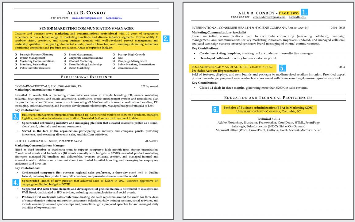 business_insider_mid level_professional_resume - Examples Of Professional Resumes