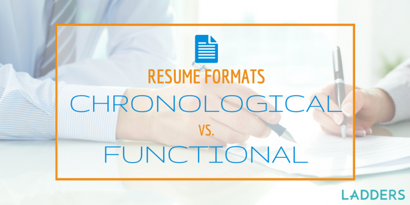 Chronological Resume Format V. Functional Resume Format  Functional Resume Vs Chronological