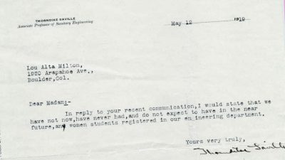 Rejection letters to female engineers in 1919 show how far women have come