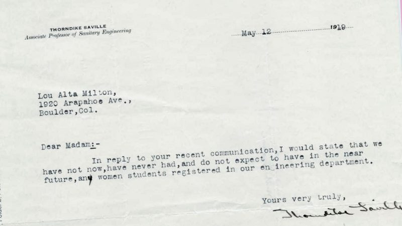 Rejection letters to female engineers in 1919 show how far women – Rejection Letters