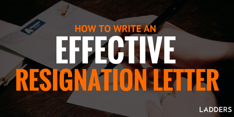 executive resignation letters writing a letter of resignation