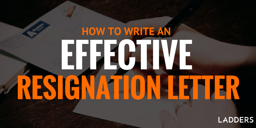 Executive Resignation Letters Writing a resignation letters