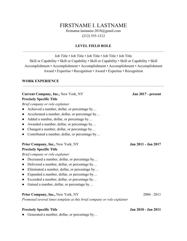 Hereu0027s An Resume Example Done In Our Professional Resume Format: Free Resume  Templates