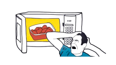 What horrible thing was reheated in the microwave? An investigation
