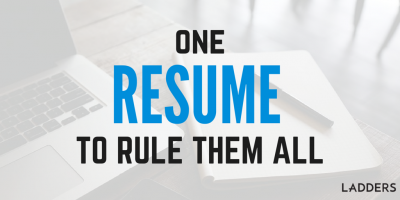 One resume to rule them all