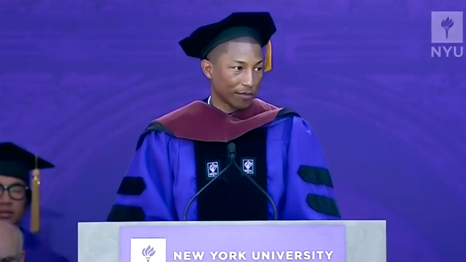 Pharrell Williams tells grads the secret of motivation: 'Serve humanity'