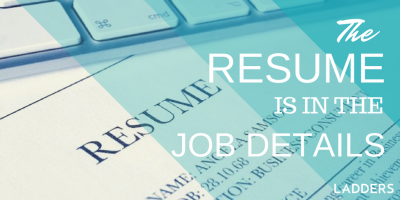 The Resume is in the Job Details