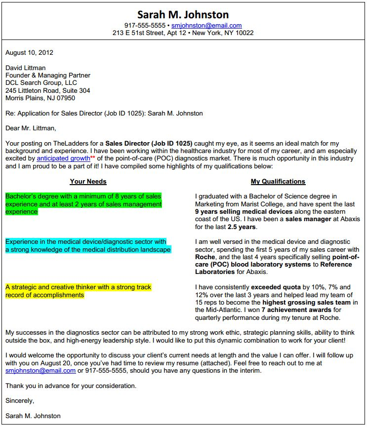 Sample_T Format_Cover_Letter  Cover Letter When Applying For A Job