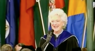 Barbara Bush to Wellesley's Class of 1990: 'Believe in something larger than yourself'