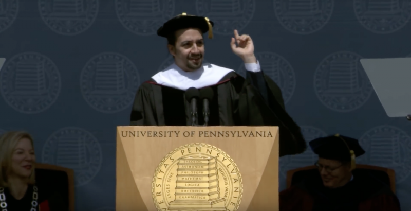 Lin-Manuel Miranda to Penn's Class of 2016: 'Immigrants get the job done'