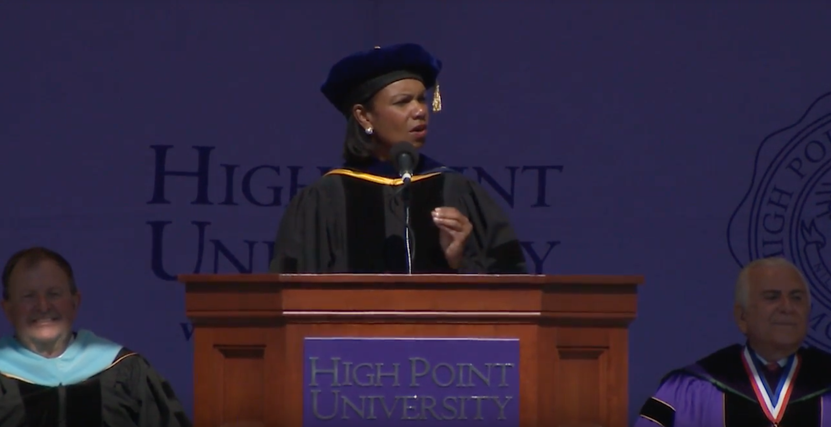 Condoleezza Rice to High Point's Class of 2016: 'Don't let anyone else define your passion'
