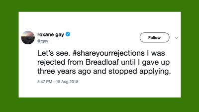 Twitter users encourage each other to #ShareYourRejections