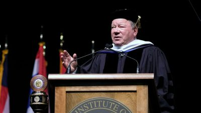 William Shatner to NEIT's Class of 2018: 'The real world is both beautiful and ugly'