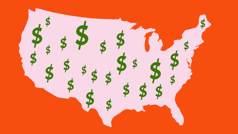 This map shows the highest-paying companies in every state | Ladders