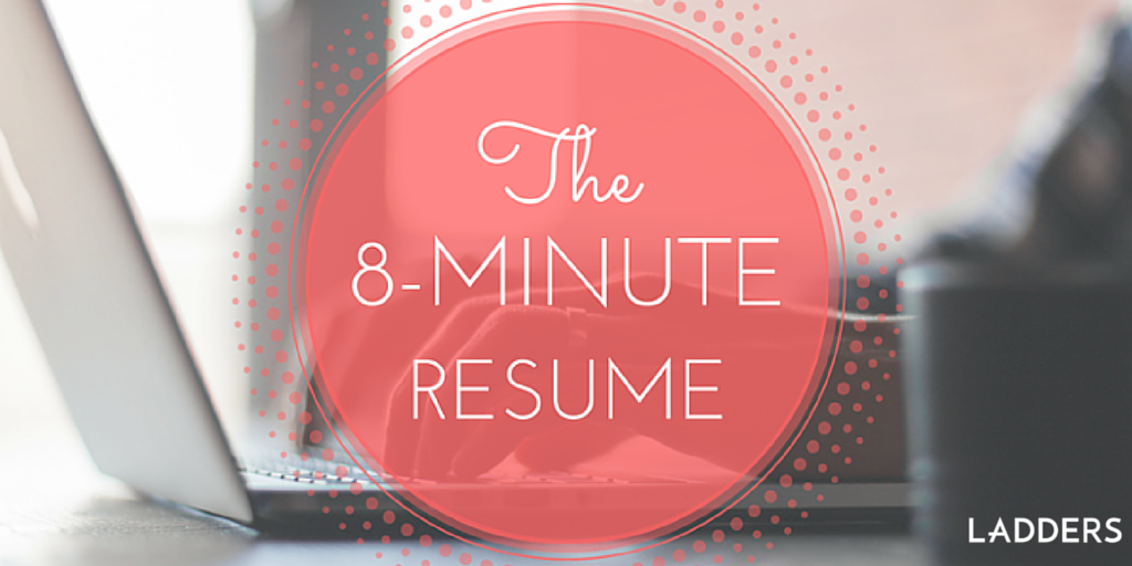 The 8 minute resume Hereu0027s how to supercharge