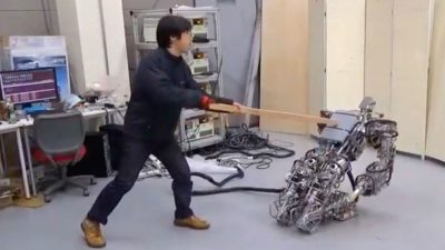 New robot gets knocked down — but it gets up again (you are never gonna keep it down)