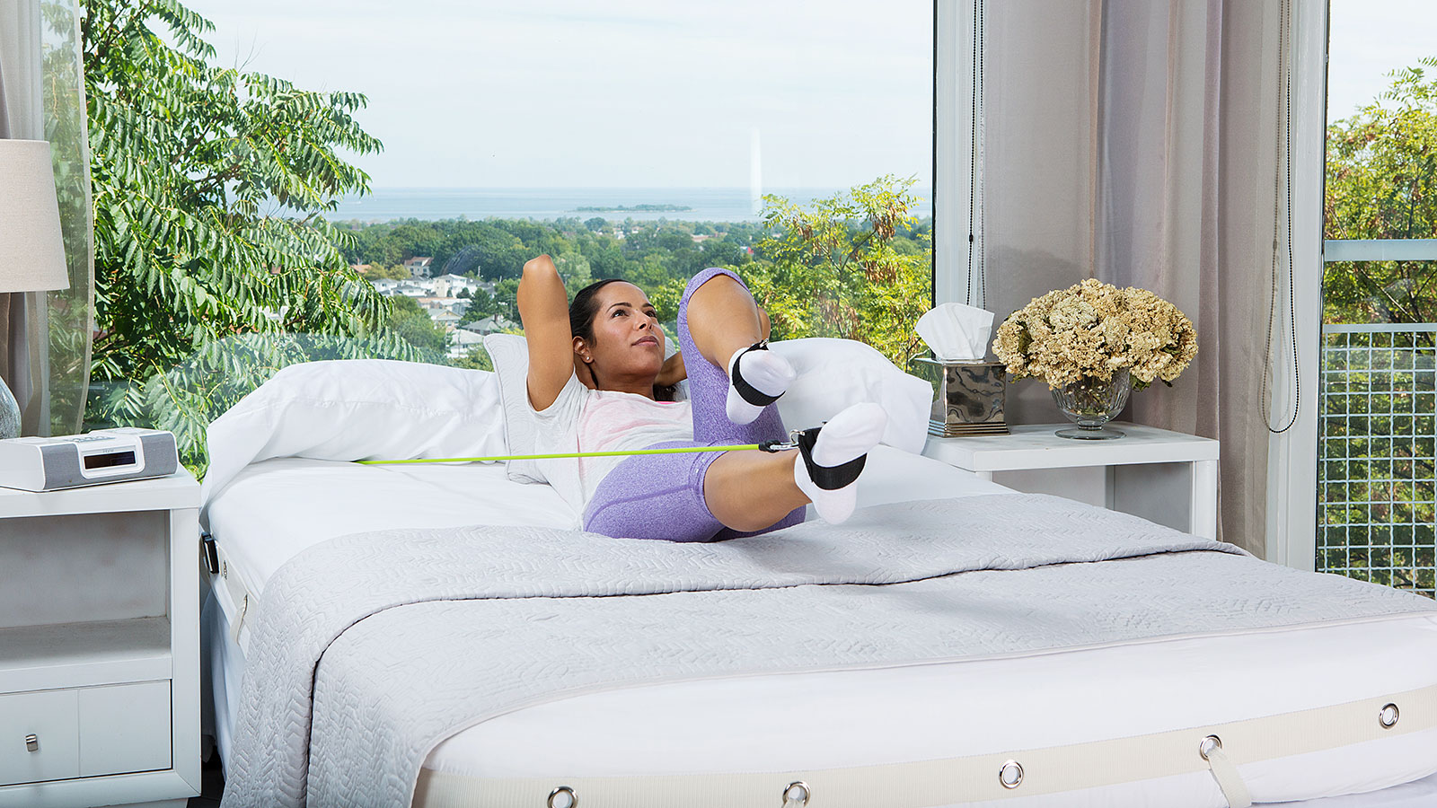 I tried this new product that lets you exercise in bed (and now my abs are killing me)