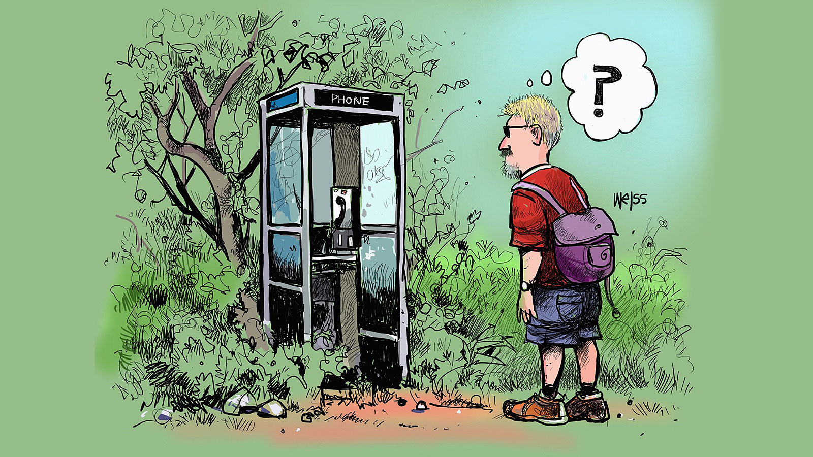What if you found a magic phone booth in the woods?