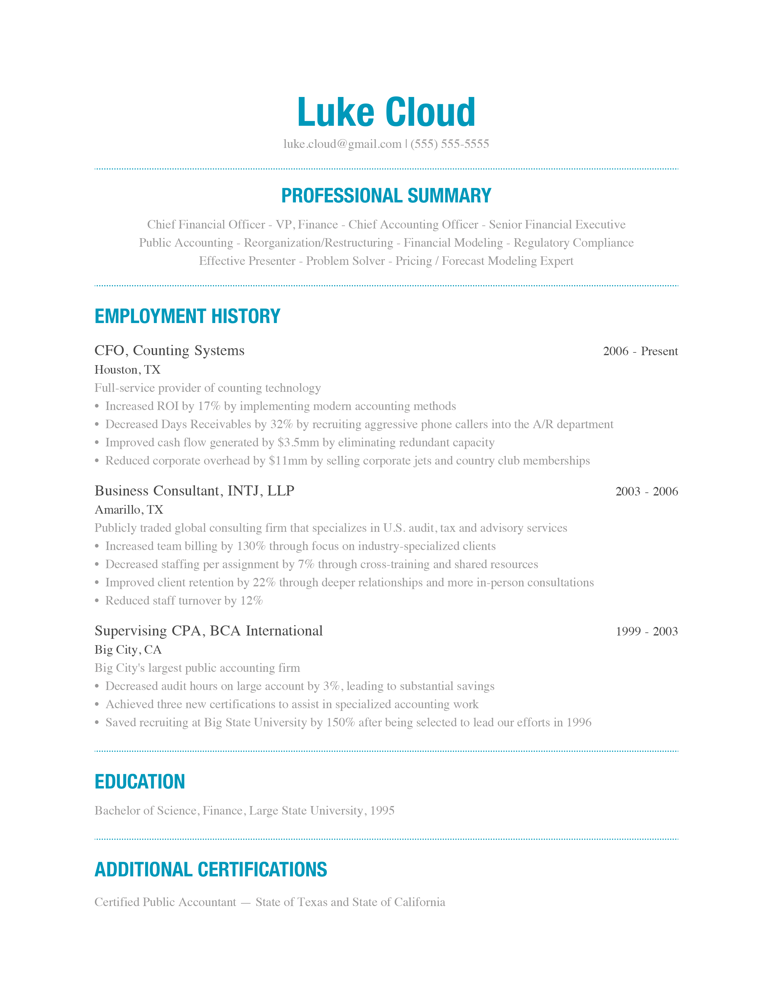 A Free, Modern, Beautiful Way to Write Your Resume Well | Ladders ...