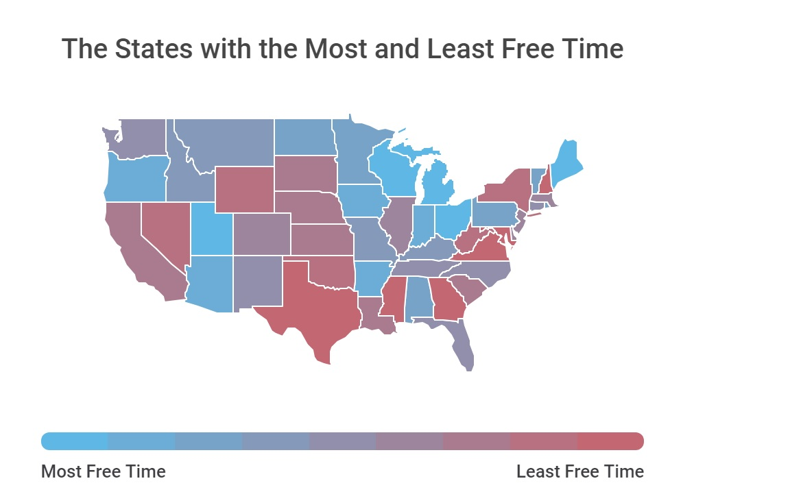 The States That Spend Most And Least On >> Free Time Survey Breaks Down Leisure Time By State