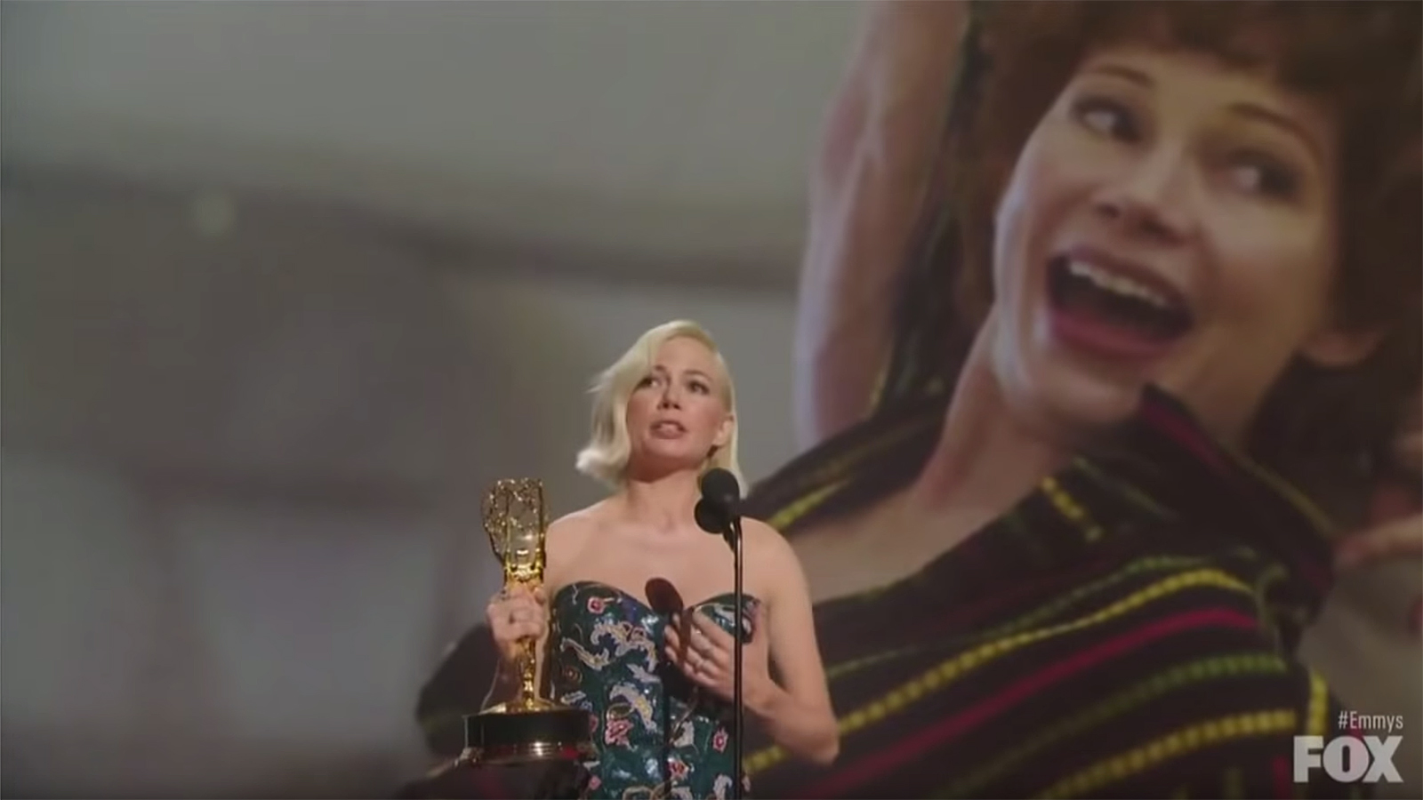 Actress Michelle Williams advocates for equal pay in Emmys speech