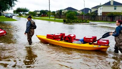 People risked their lives to get to work during Hurricane Harvey