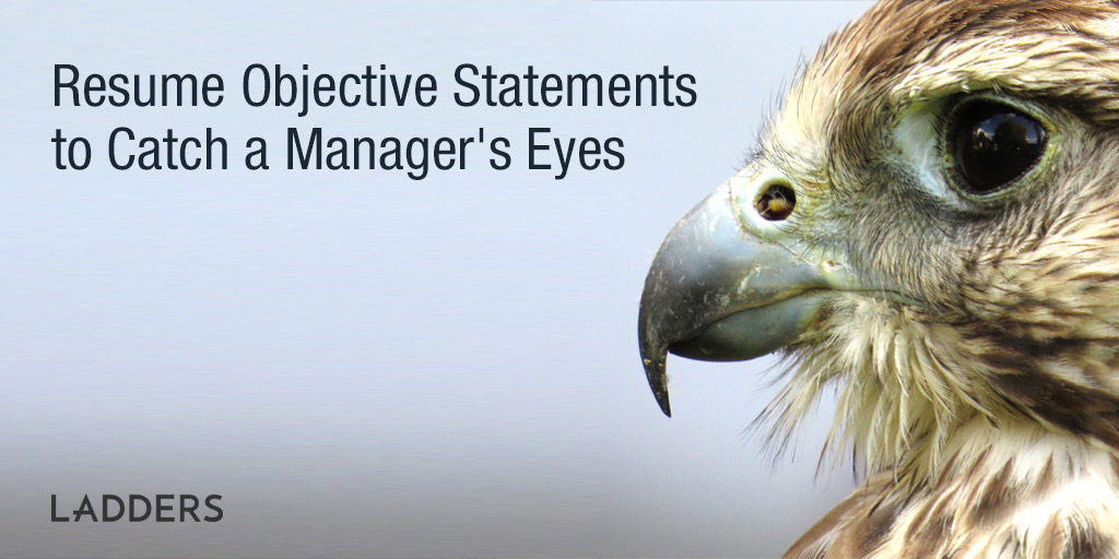 Resume Objective Statements To Catch A Manager'S Eyes | Ladders