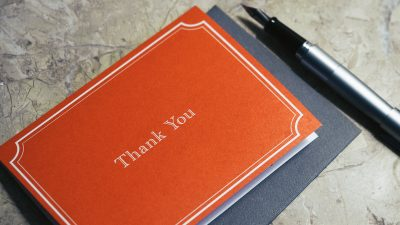 Study: We all underestimate the power of a thank-you note