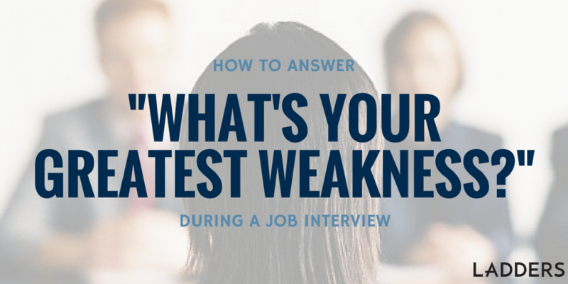 Job Interview Weakness Used to Your Advantage | Interviewing About ...