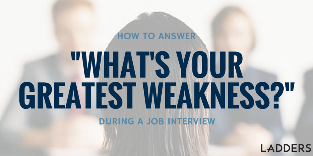 what is your biggest weakness interview question