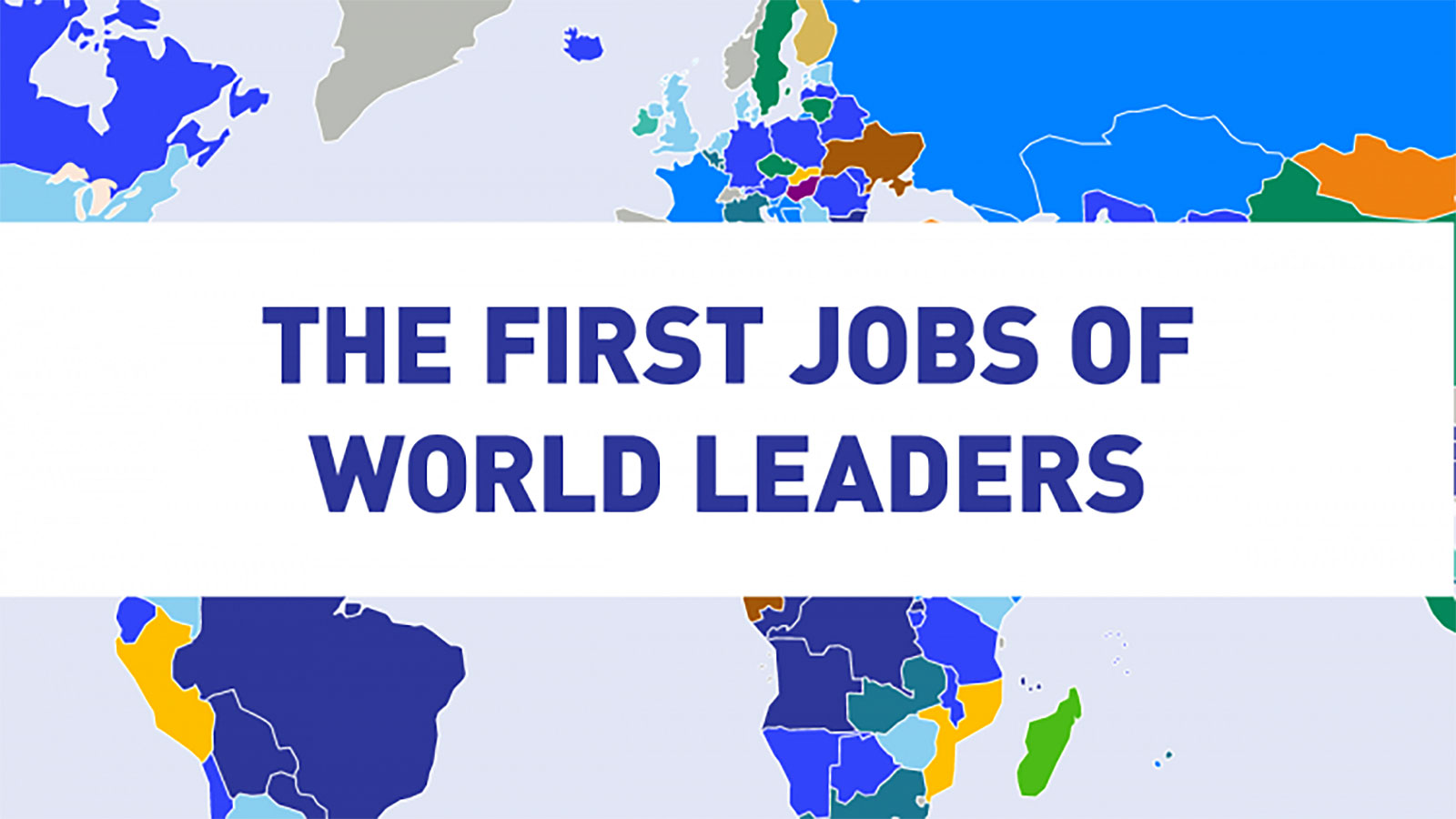 The first jobs of world leaders